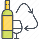 bottle, glass, recycling icon
