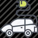 car, eco, ecology, emission, green, zero icon