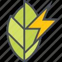 electric, energy, green icon