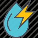 electric, energy, hydropower, renewable icon
