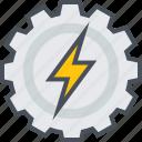 energy, mechanical, power icon