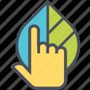 care, eco, leaf, nature icon