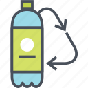 plastic, recycling, water icon