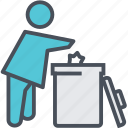 garbage, recycling, trash icon
