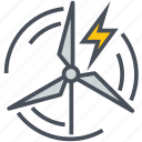 energy, power, renewable, wind icon
