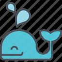 baleine, fish, life, ocean, sea icon