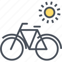 bicycle, sustainable, transport, vehicle icon