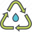 recycle, treatment, water icon