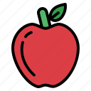 apple, fruit, healthy, organic icon