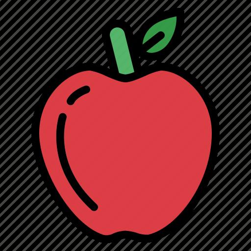 apple, fruit, healthy, organic icon