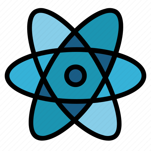 atom, electron, nuclear, science icon