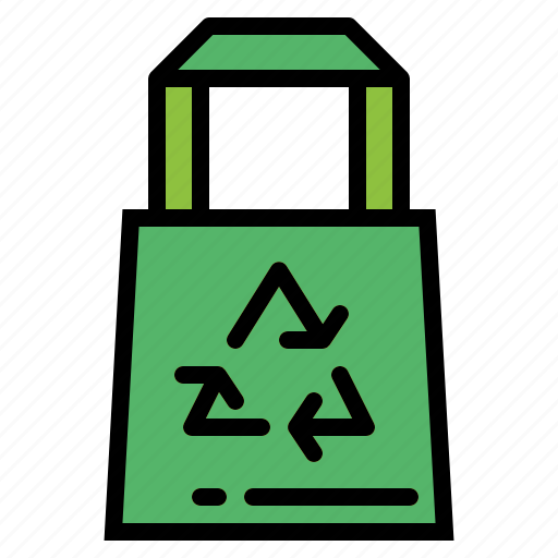bag, eco, recycled, shopping icon