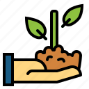 bank, growth, money, planting icon
