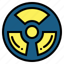 alert, nuclear, radiation, signaling icon
