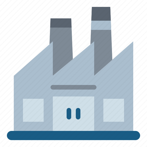 factory, industrial, industry, pollution icon