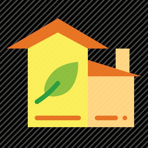 ecologic, ecological, estate, house, real icon