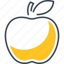 apple, bio, eco, food, fruit icon