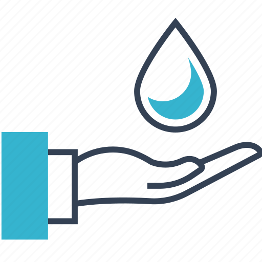 Eco, bio, drop, hand icon - Download on Iconfinder