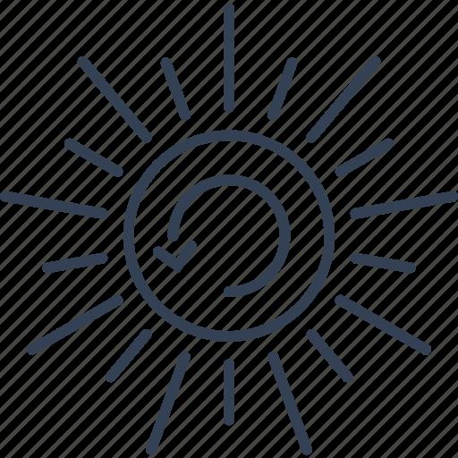 Eco, bio, update, sun icon