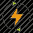 arrow, bolt, electricity, energy, power, renew, thunderbolt icon