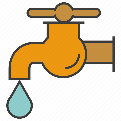 drop, guardar, save, tap, valve, water icon