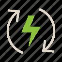 ecology, renewable energy icon