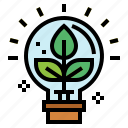 bulb, ecology, education, idea, light icon