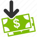 cash, dollar, finance, gain, income, money, payment icon