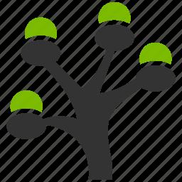 apple plant, eco project, ecology, money tree, nature, organic, plant icon