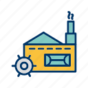 factory, industry, mill, plant icon