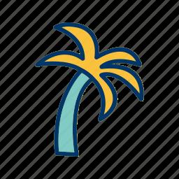 island, palm, tree icon