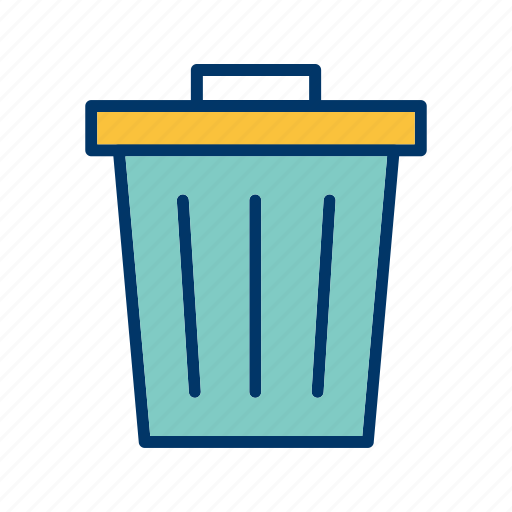 dust bin, recycle bin, trash icon