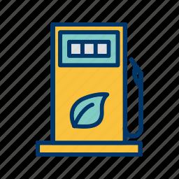 eco fuel, eco gas, eco station icon