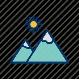gallery, mountain, nature icon