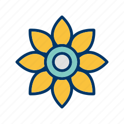 flower, nature icon