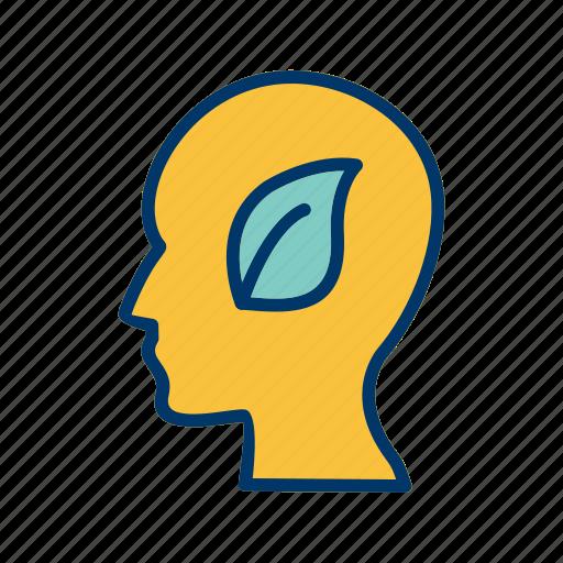 eco mind, head, mind icon