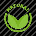 bio, natural origin, eco, cosmetic, natural icon
