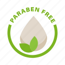 eco, eco cosmetic, label, natural, paraben free icon