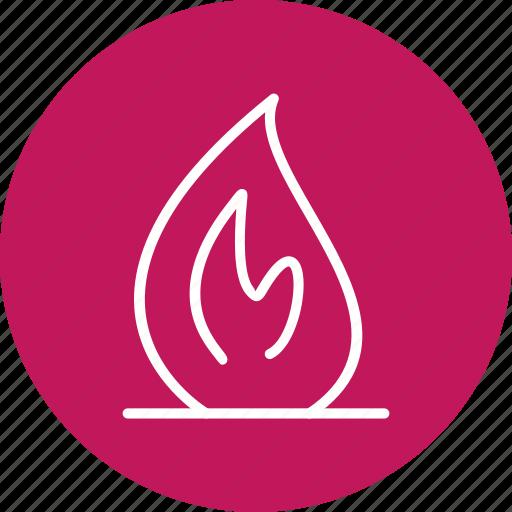 bonfire, fire, flame, light icon