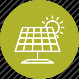 energy, solar energy, solar panel icon