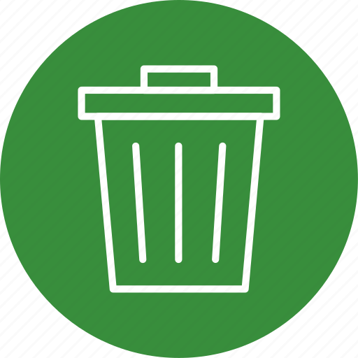 dust bin, garbage, recycle bin, trash icon