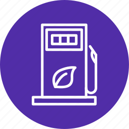 eco station, fuel station, gas station icon