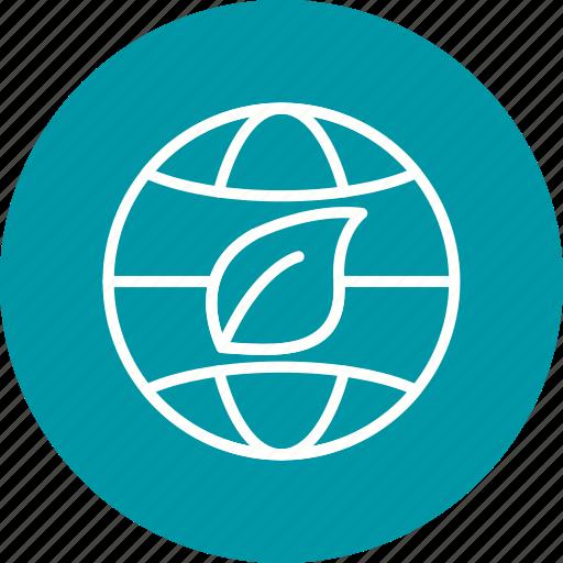 eco world, ecology, globe, world icon