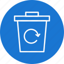 eco, ecology, garbage recycle, recycle bin icon