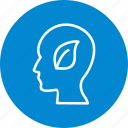 eco mind, head, mind icon