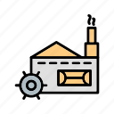 building, factory, mill, plant icon