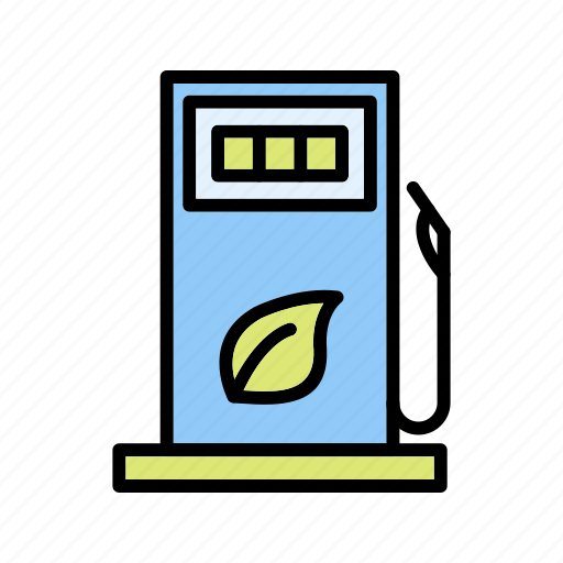 eco station, fuel staion, gas station, petrol station icon