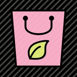 eco bag, recycle, reusable icon