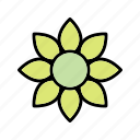 flower, green, nature, plant icon