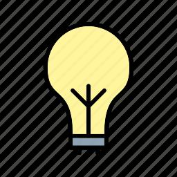eco bulb, light, light bulb icon